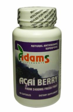 Tratament anemie si adjuvant in cure de slabire - Acai Berry 600Mg 60Cps Adams Vision